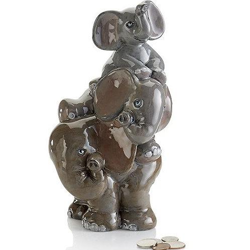 Stack of Elephants Money Box