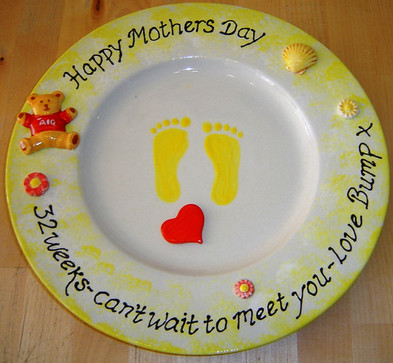 Bump's Mother's Day Plate
