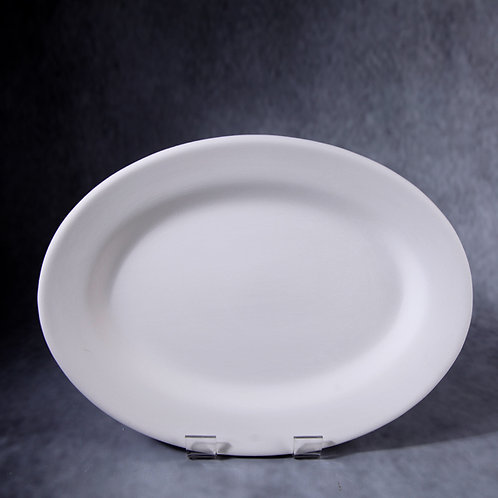 Rimmed Oval Serving Platter