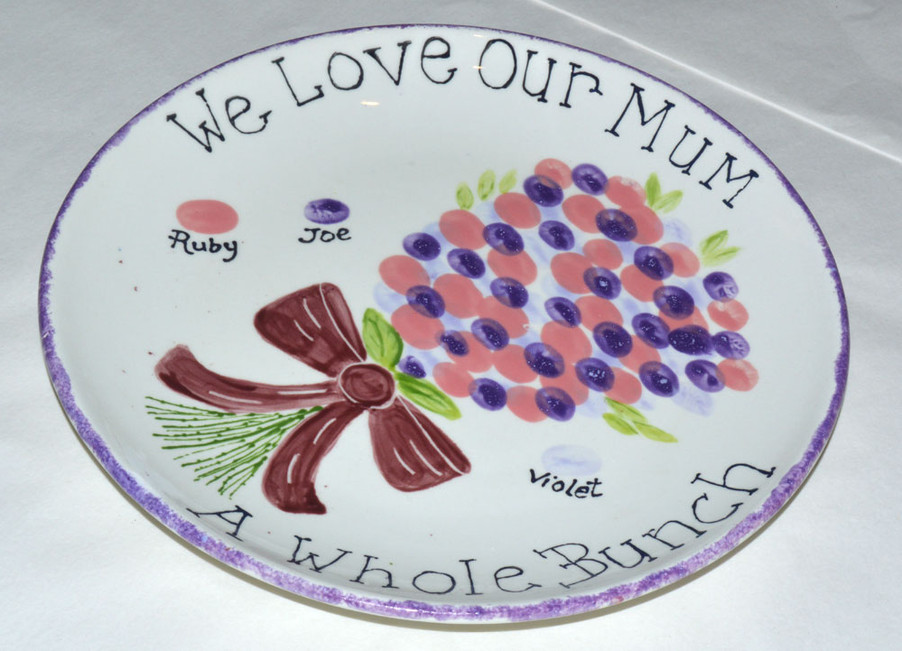 We Love Our Mum Plate