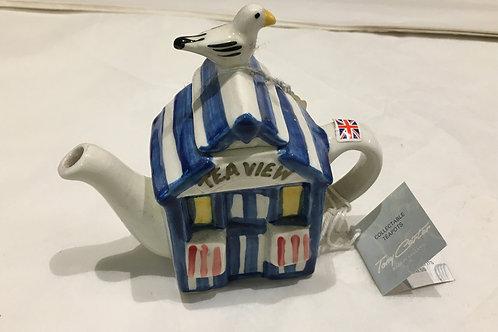 Tony Carter Collectible Teapot - Beach Hut