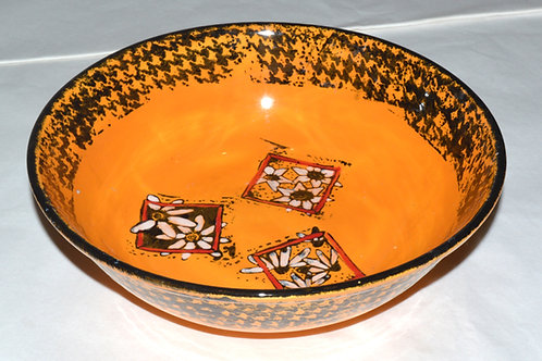 Orange and Black Bowl