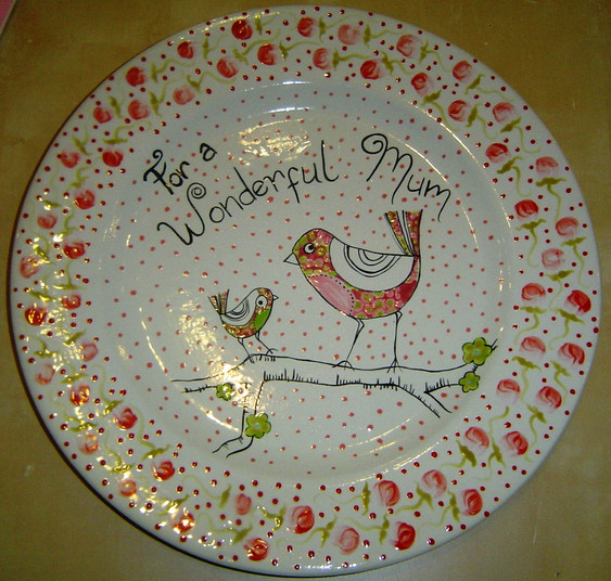 To a Wonderful Mum Plate