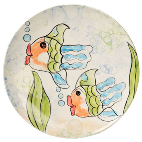 Paint by Numbers - Funky Fish Plate