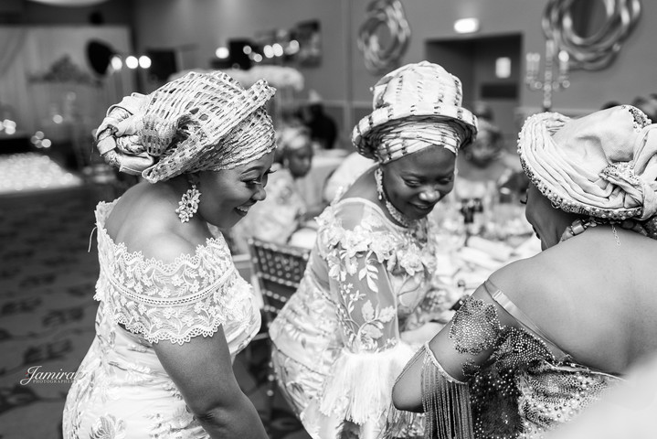 Family and friends of the celebrant on the dance floor