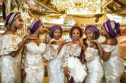 Bride and bridesmaids - Nigerian Wedding DJ