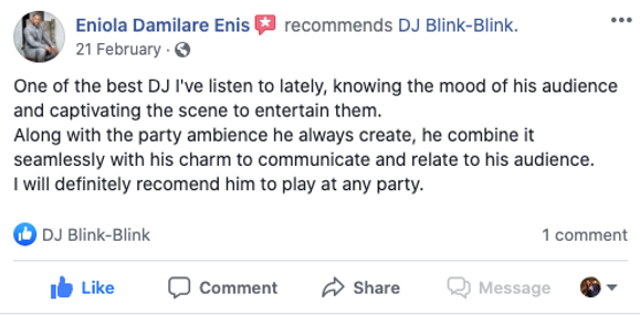 Guest's Feedback Nigerian Wedding DJ.png