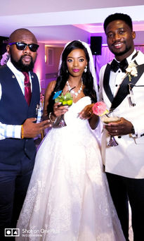 Bride and Groom with DJ Blink-Blink - Nigerian Wedding DJ Hire