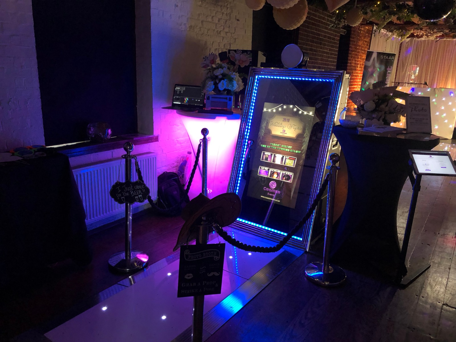 Magic Mirror Photo Booth with Walkway