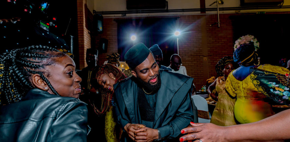 Nigerian guests rocking it on the dance floor at a wedding event