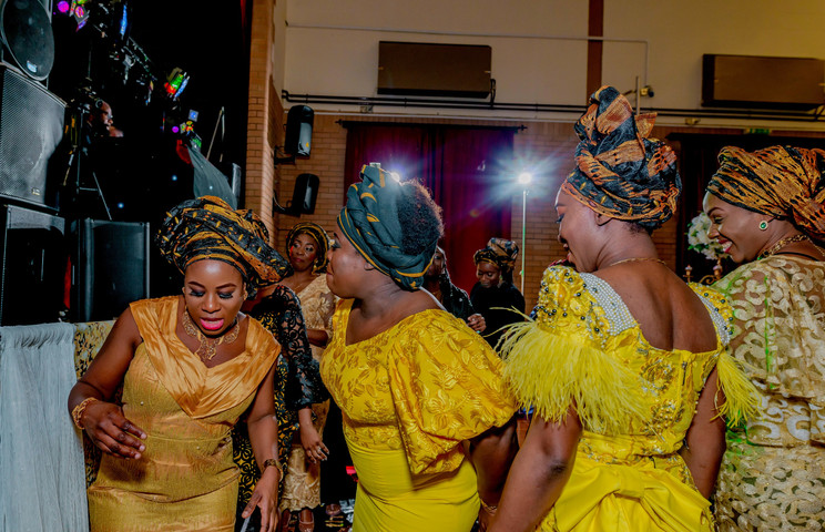 Africans in their traditional outfit - Nigerian traditional wedding