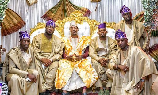 The groom and groomsmen - Nigerian Wedding DJ
