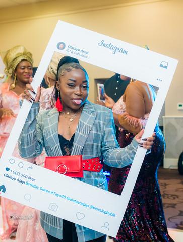 Creative photoshoot at a Nigerian wedding event - Hilton Hotel London
