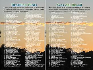 Contraportada CD Aves del Brasil