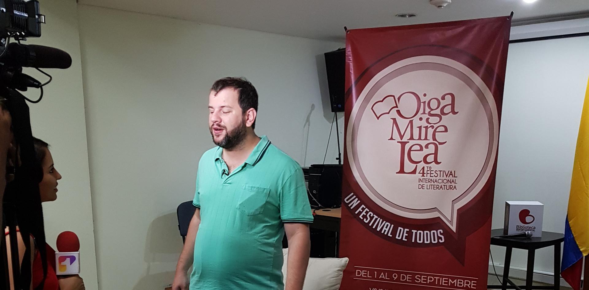 Juan Pablo Culasso en Festival de literatura Oiga, Mire, Lea, Cali, Colombia, 2018.jpg