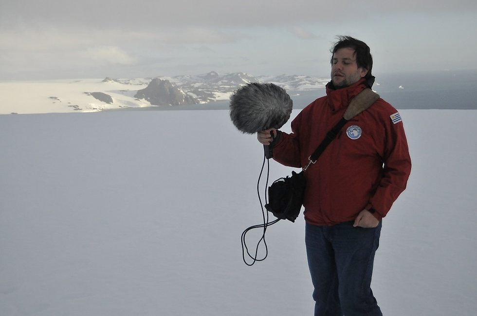 Juan Pablo Culasso en la Antártida