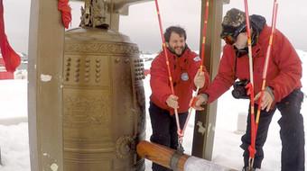 Juan Pablo Culasso y su padre en la Antártida 2015