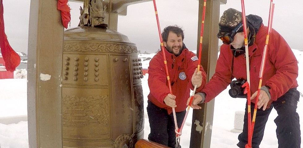 Juan Pablo Culasso and his father in Antarctica 2015