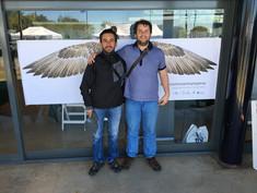 Juan Pablo Culasso con Carlos Mario Wagner director de la Colombia Birdfair 2016