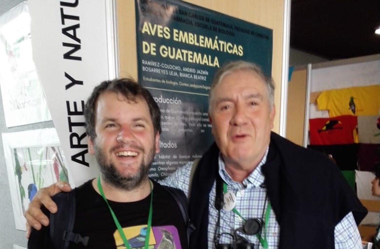 Juan Pablo Culasso con Tim Appleton British Birdfair 2018