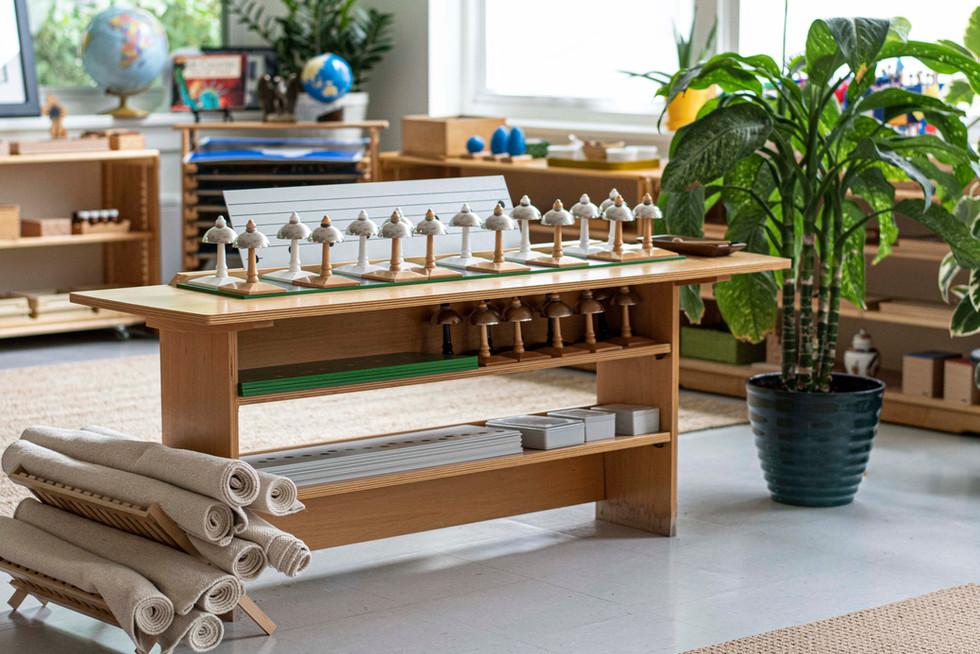 Montessori Classroom Bells & floor mats.