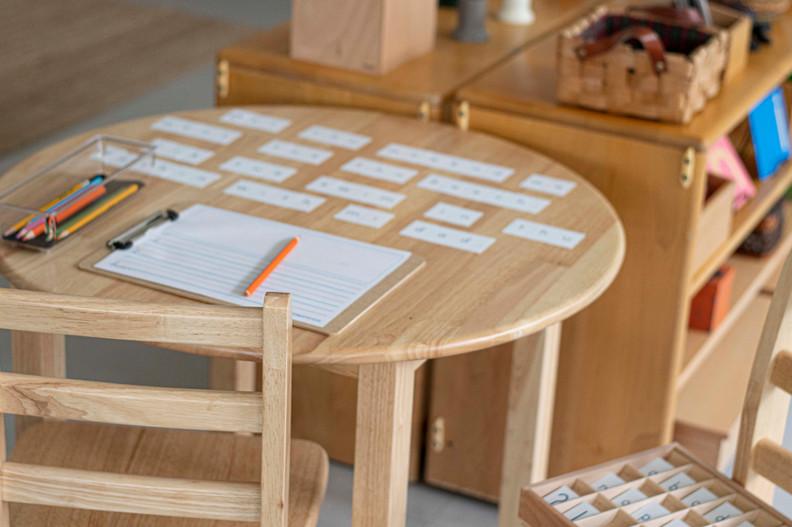 Desk building sentences