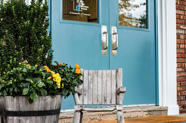 Blue Front Doors at The School House NY