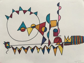 Doodling: Calling out shapes and lines