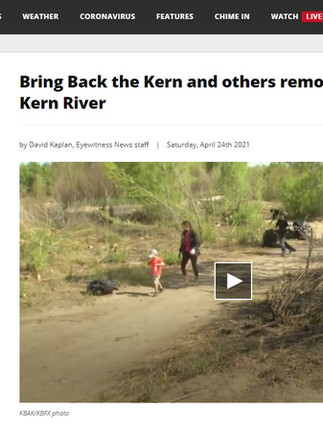 Bring Back the Kern and others remove trash from Kern River
