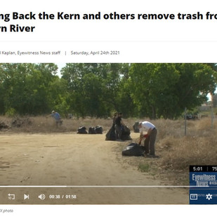 Bring Back the Kern and others remove trash from Kern River - April 24, 2021