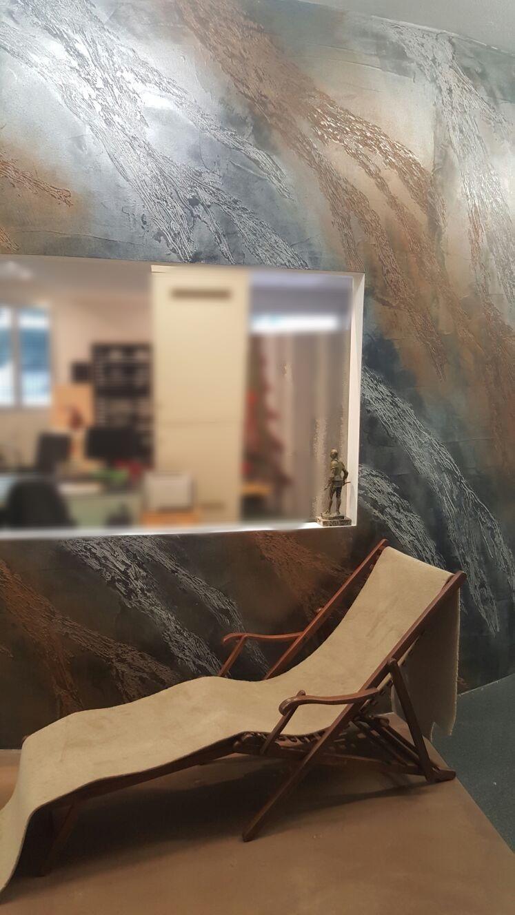 parete resina effetto materico
