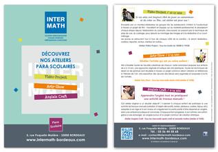 INTERMATH Flyer format A5 R°V°