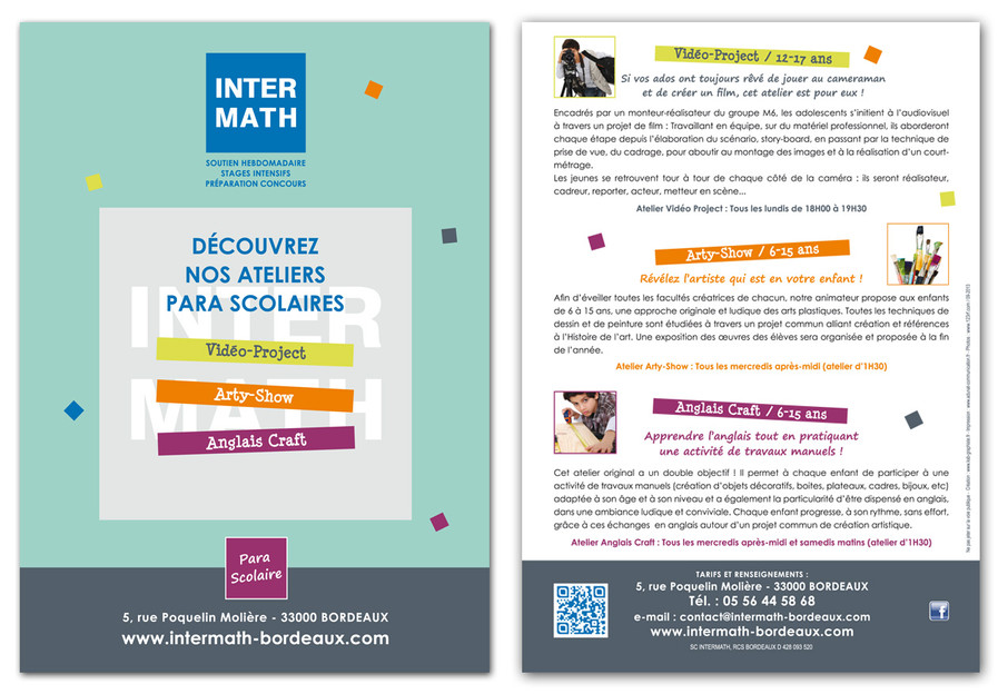 INTERMATH Flyer format A5 R°V°