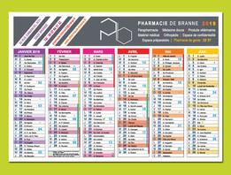 Pharmacie de Branne - Calendrier souple format A5 personnalisé