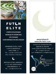 FUTON ELITE - Flyer Marque Page R°V°, format 7 x 20 cm