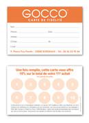 GOCCO - Carte de fidélité R°V°