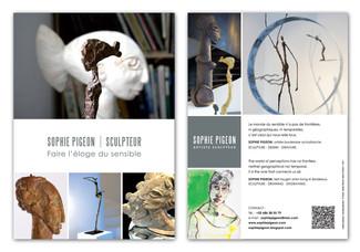 SOPHIE PIGEON - Plaquette Commerciale format A5 R°V°