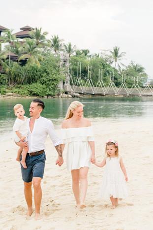 Singapore Lifestyle Photographer | Nic Imai Photography | Family beach photography Singapore Sentosa walking