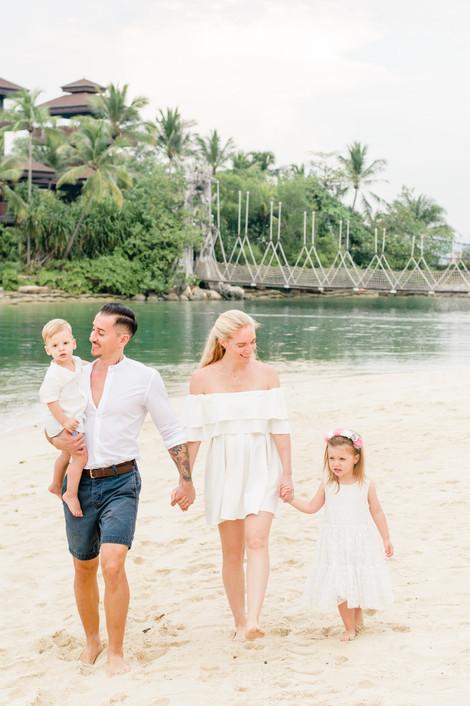Singapore Lifestyle Photographer   Nic Imai Photography   Family beach photography Singapore Sentosa walking
