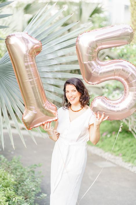 Hort Park Singapore anniversary photo shoot with balloons
