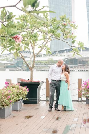 Singapore Lifestyle Photographer | Nic Imai Photography | Couples photography Fullerton Bay Singapore plumeria