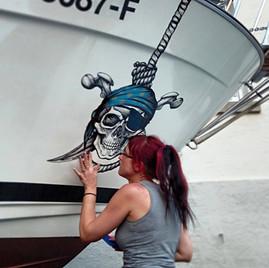 Boot beschriften