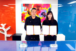 에스지컴-한국체육대학교 산학협력 협약식