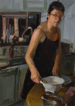 Maryanne Couttes Oil on canvas paper 260 x 190mm