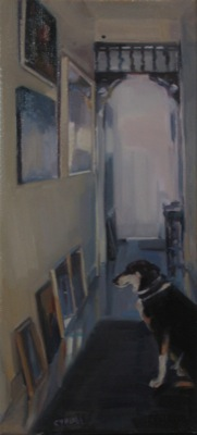 The Critic 41 x 19cm  oil on linen
