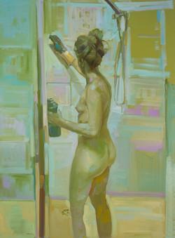 Multitasking 2016 oil on linen 122 x 91cm
