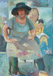 Archibald Prize 2021 finalist - Dagmar Cyrulla's painting of Wendy Sharpe