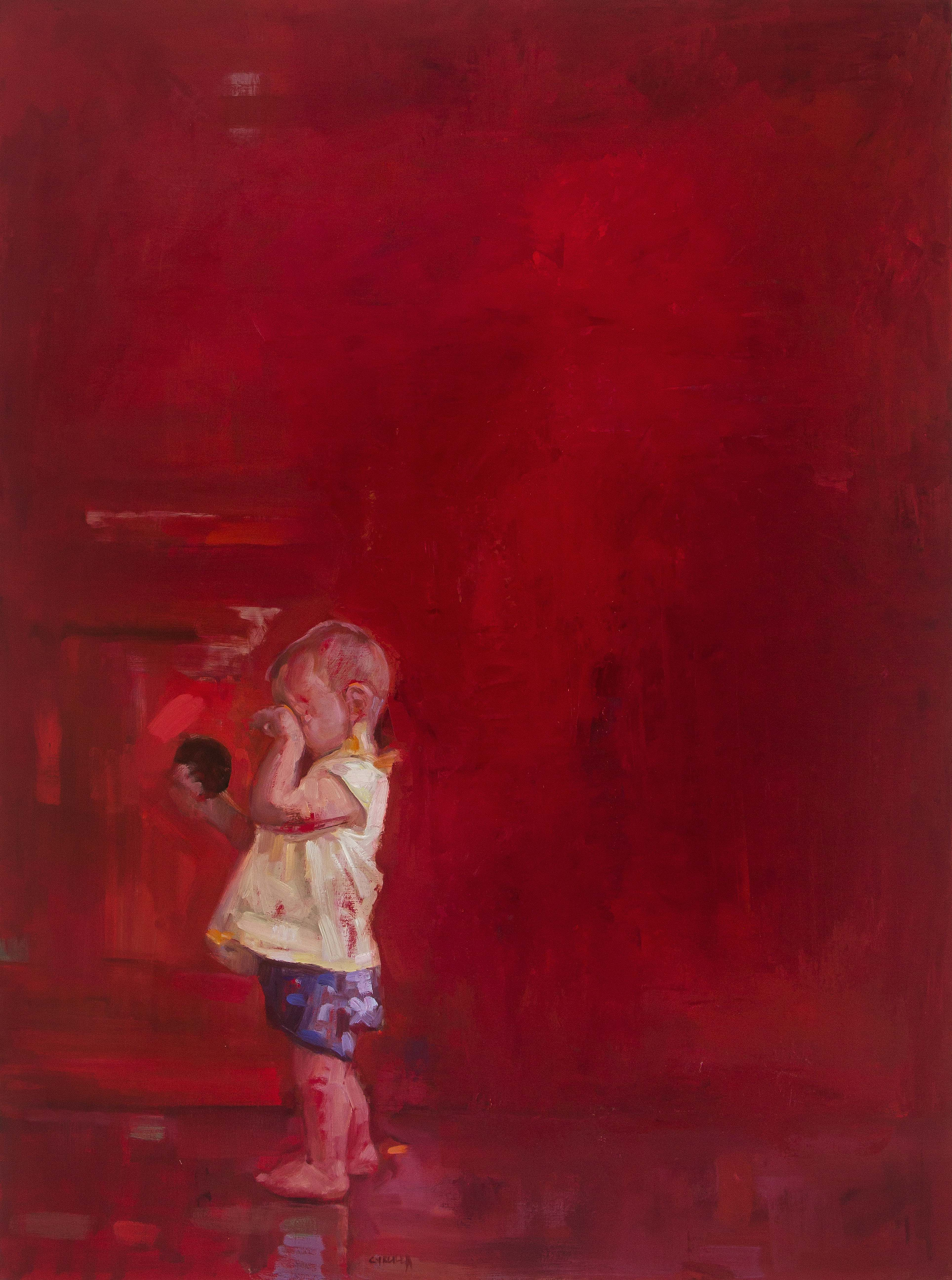 Childish sense of curiosity 1 oil on linen 122 x91cm