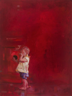 Childish sense of curiosity 1 oil on linen 122 x91cm