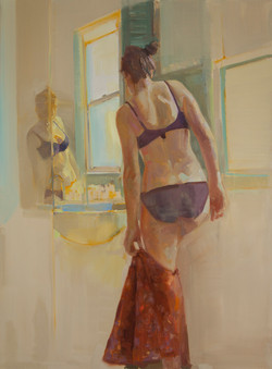 Doing what a girl has to  II _122 x 91cm oil on linen 2016